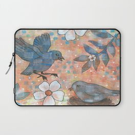 Whimiscal Birds in Nest Laptop Sleeve