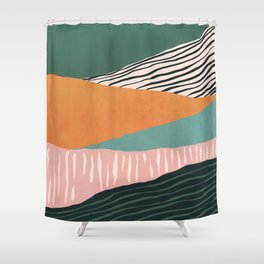 Modern irregular Stripes 02 Shower Curtain