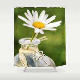 Love Me Love Me Not Shower Curtain