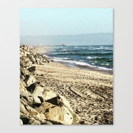 Manhattan Beach Coast Canvas Print