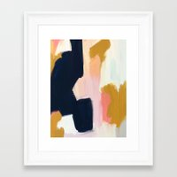 navy Framed Art Prints featuring Kali F1 by Patricia Vargas
