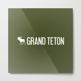Grand Teton Moose Metal Print