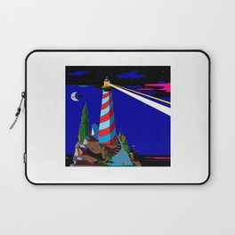 A Night at the Lighthouse with Search Light Active Laptop Sleeve