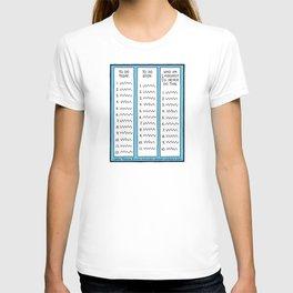 To Do (cartoon 064) T-shirt