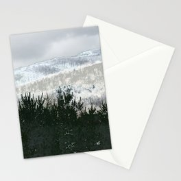 Nordic Landscape Sky Forest Mountain Stationery Cards