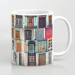 Collage of Kiev front doors,Ukraine Coffee Mug