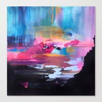 northern lights Canvas Prints featuring Northern Lights by Mai Autumn