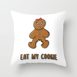 Eat My Cookie Throw Pillow