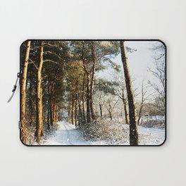 Forest Snow Scene Laptop Sleeve