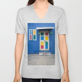Colorful Indian Door Unisex V-Neck