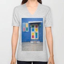 Colorful Indian Door Unisex V-Neck