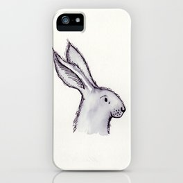 Portrait of Mr Rabbit iPhone Case