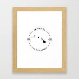 Hawaii - The Aloha State Framed Art Print