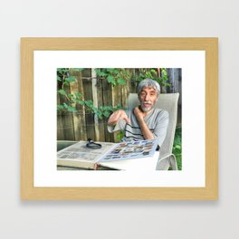Philatelic controversy Framed Art Print