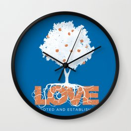 Rooted & Established Wall Clock