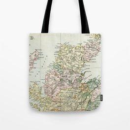 Scotland Vintage Map Tote Bag