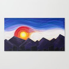 Denver Sunset Canvas Print