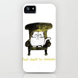 Food should be Imminent (Yellow) iPhone Case