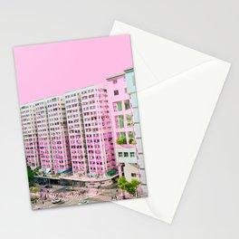 粉色大廈 /// Pink Blocks Stationery Cards