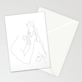 Couple - Minimal Line Drawing Stationery Cards