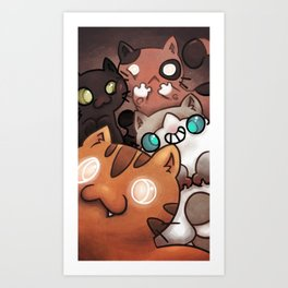 Silly cats Art Print