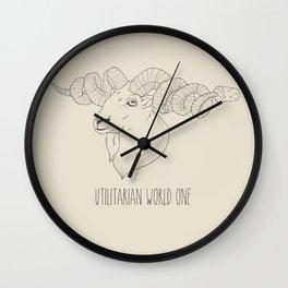 Utilitarian World #1 Wall Clock
