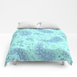 sea paisley Comforters