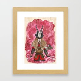 The trickster God Framed Art Print