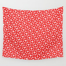 Red Kitty Cat Print #2 Wall Tapestry