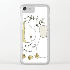 Pear Salad (Illustrated Recipe) Clear iPhone Case