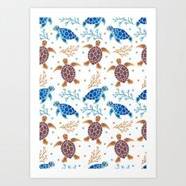 The Sea Turtle Pattern Art Print