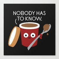 yetiland Canvas Prints featuring Cold Comfort by David Olenick
