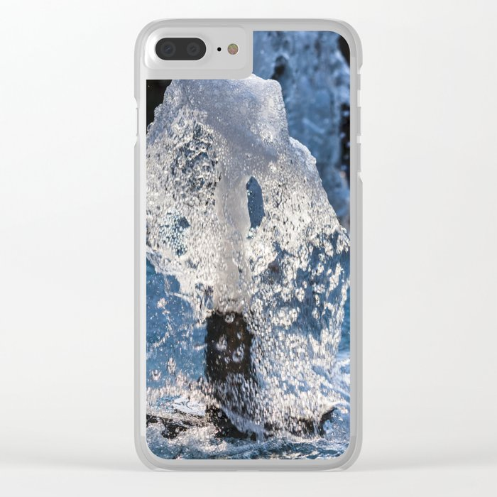 Water of a fountain Clear iPhone Case