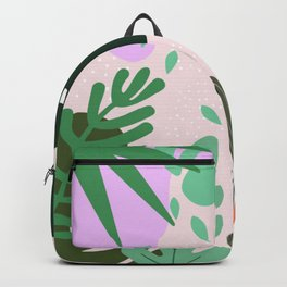 ABSTRACT PASTEL TROPICAL JUNGLE CACTUS PATTERN Backpack
