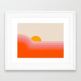 Strawberry Dipper Framed Art Print