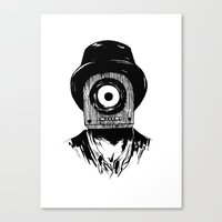 radiohead Canvas Prints featuring Radiohead by TISHINA
