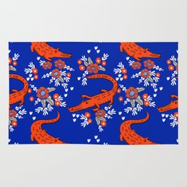 Florida University gators swamp life varsity team spirit college football Rug