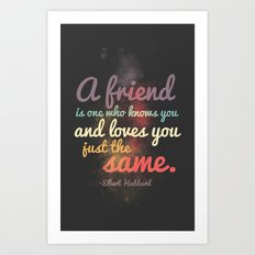 Friendship | Elbert Hubbard Art Print