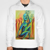 anxiety Hoodies featuring Anxiety by Michael Anthony Alvarez