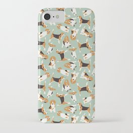 beagle scatter mint iPhone Case