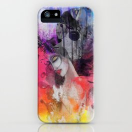 black butterflies iPhone Case