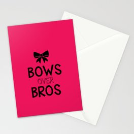 Bows over bros Stationery Cards