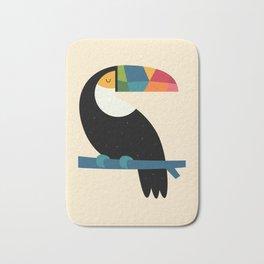 Rainbow Toucan Bath Mat