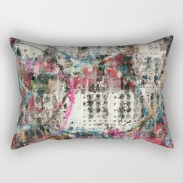 Analog Synthesizer, Abstract painting / illustration Rectangular Pillow