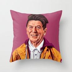 Hipstory - Ronald Reagan Throw Pillow