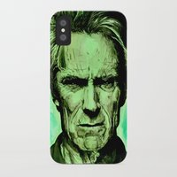 clint eastwood iPhone & iPod Cases featuring Clint Eastwood by Jason Hughes