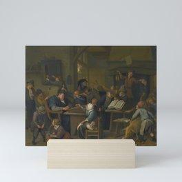 Jan Havicksz. Steen A RIOTOUS SCHOOLROOM WITH A SNOOZING SCHOOLMASTER Mini Art Print
