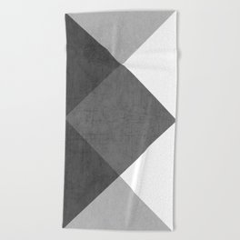 black and white triangles Beach Towel