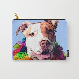 Dog in Flowers Carry-All Pouch