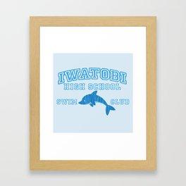 Iwatobi - Dolphin Framed Art Print